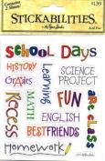 school Days Acid Free Stickers