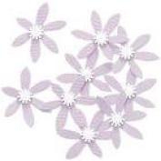 Purple Bellflower Embellishments for Scrapbooking