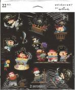 Pirate Kids Scrapbook Stickers