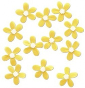Yellow Plumeria Embellishments for Scrapbooking