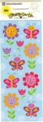 Flowers and Butterflies Scrapbook Stickers