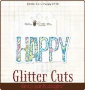 Glitter Cuts Diecuts-Happy