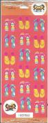Flip Flops Scrapbook Stickers