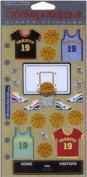 Stickopotamus Binder Stickers - Basketball