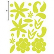 Advantus Corporation Heidi Swapp Glossy Chipboard Shapes 20/Package, Flowers Whisper Blue