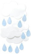 Vellum Clouds and Raindrops Diecuts