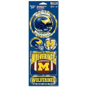 Michigan Wolverines Official NCAA 27cm x 10cm Prismatic Decal Set by Wincraft