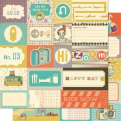 Joy Ride Elements Scrapbooking Paper