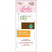 Bella Blvd Birthday Boy 2 Flag Scrapbook Embellishment
