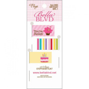 Bella Blvd Birthday Girl 1 Flag Scrapbook Embellishment