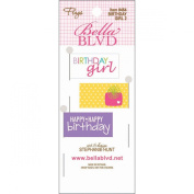 Bella Blvd Birthday Girl 2 Flag Scrapbook Embellishment