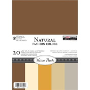 Value Pack Cards & Envelopes A6 20/Pkg-Natural