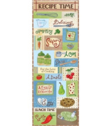 Recipe Time Embossed Stickers 11cm x 32cm Sheet-