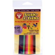 Stick-A-Licks 100 Chain Strips/Pkg-.13cm x 13cm Assorted Colours