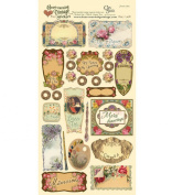 Heartwarming Vintage Cardstock Stickers 15cm x 30cm Sheet-French Labels