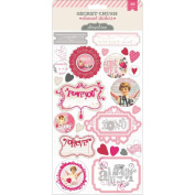 Pink Paislee Secret Crush Element Stickers