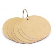 Beyond The Page MDF Round Personal Album-8.9cm 6 Tag Style Pages
