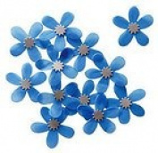 Blue Plumeria Embellishments for Scrapbooking