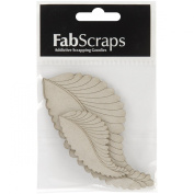 Fabscraps Die-Cut Grey Chipboard Embellishment, Feathers, 11cm by 5.8cm