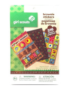 Girl Scouts Brownie Activity Stickers 316 Total 66 Glitter and 250 Regular Stickers Great for Scrapbook or Making Memories