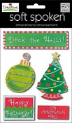 Christmas Dimensional Scrapbook Embellishments (5/pkg), Deck The Halls by Ellen Krans