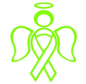 RIBBON ANGEL decal sticker support breast cancer