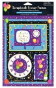 Paper Art - Scrapbook Sticker Frames - Happy New Year