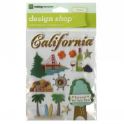 Travel Design Shop Stickers 11cm x 15cm Sheet-California