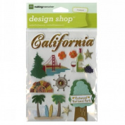 Travel Design Shop Stickers 11cm x 15cm Sheet-California