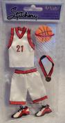 Sandylion Stitchery Stickers - Handmade - Basketball