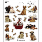 Dogs Puppies Scrapbook Stickers