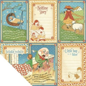 Graphic 45 Mother Goose Little Boy Blue 12x12 Paper