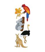 Touch Of Jolee's Dimensional Sticker - Australian Animals