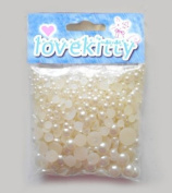 LOVEKITTY 650 pcs Cream Mixed Sizes Flat back Pearl Cabochon