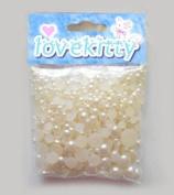 LOVEKITTY 650 pcs Cream Mixed Sizes Flat back Pearl Cabochon