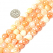 10mm round gemstone pink crackle agate beads strand 15""