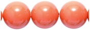 Swarovski Elements 8CR633 50-Pack Crystal Round Pearl Beads, 8mm, Coral