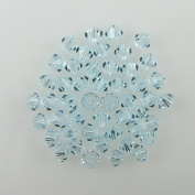 48 4mm. crystal bicone 5301 Lt Azore beads