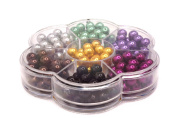Jewellery Making Colour Glass Pearl Pearlescent Beads Box Set B, 8mm Round, 168 Pcs