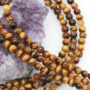 "6mm Tiger's Eye Loose Gemstone Beads Round 15.5"" Strand"