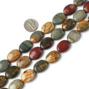 "10x14mm oval gemstone picasso jasper beads strand 15"""