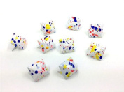 Nicedeco - DIY Accessories Painted Colourful Spot Pyramid Studs 100pcs 12MM WHITE Metal Claw Beads Nailhead Punk Stud Rivet Spike CellPhone Decoration Leathercraft