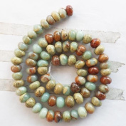 8x5mm Beautiful Snake Skin Jasper Rondelle Loose Bead 15.5 Inch