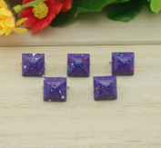 Nicedeco - DIY Accessories Painted Colourful Spot Pyramid Studs 100pcs 12MM PURPLE Metal Claw Beads Nailhead Punk Stud Rivet Spike CellPhone Decoration Leathercraft