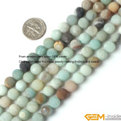 Gem-Inside 6mm 8mm 10mm 12mm Round Frost Mixed Colour Amazonite Beads Strand 15 Inches