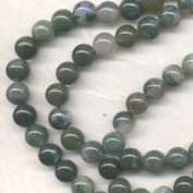 8mm Moss Agate Round Beads