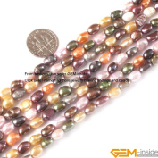 Gem-Inside 5-6mm Freeform Mixed Colour Freshwater Cultured Pearl Beads Strand 15 Inches Jewellery Making Beads