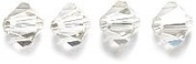 . Elements 5328 Xilion Bicone Diamond Beads, Crystal Effects, Silver, 4-mm, 48/Pack