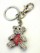 Elegant Lovely Teddy Bear Key Holder/Key Ring/Key Chain/Handbag charm-The Highest Quality Design with Gorgeous Teddy Bear,Super Saving w/Free Satin Bag,6.4cm w x 13cm h,Gorgeous Key Holder in The Market.100% Satisfaction Guaranteed