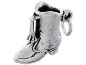 Sterling Silver Majorette Boot Baton Twirler Marching Band Charm